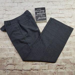 Larry Levine 8 Dress Pants Gray Herringbone Career